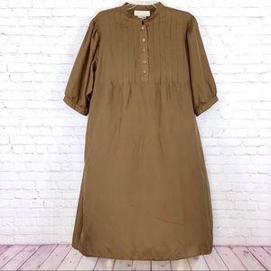 Vintage Maurada Dress 100% Silk Brown Size PXL